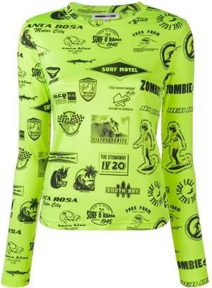 McQ Surf print jumper
