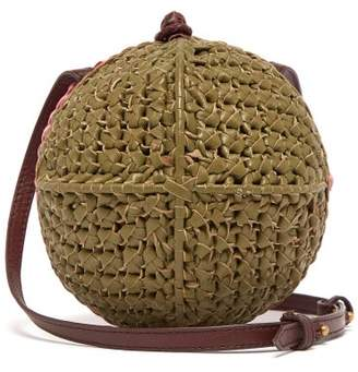 Sophie Anderson - Ceina Woven Leather Cross Body Bag - Womens - Khaki Multi