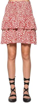Baum und Pferdgarten Saidah Leopard Print Crepe Mini Skirt
