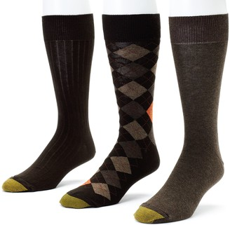 Gold Toe Goldtoe Men's GOLDTOE 3-pk. Double-Argyle Dress Socks