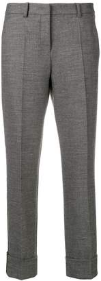 Cambio cropped side-striped trousers