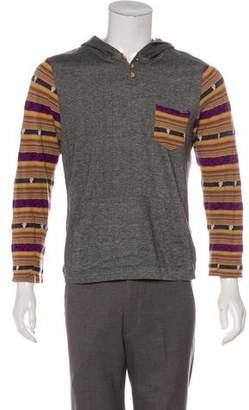 Koto Striped Knit Hoodie