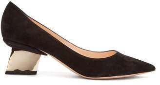 Nicholas Kirkwood Veronika Geometric Heel Suede Pumps - Womens - Black