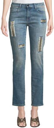 Brockenbow Charlotte Beaded Boyfriend Jeans