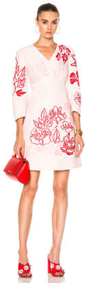 Fendi V Neck Printed Mini Dress