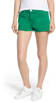 Current/Elliott The Boyfriend Cutoff Denim Shorts (Jolly Green with Cut Hem)