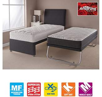Airsprung Aspen Guestbed Black - With 2 Sprung Mattress