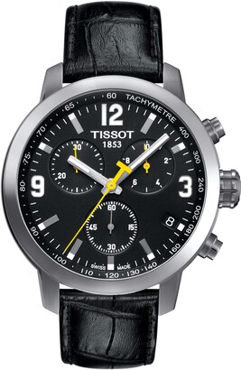Tissot PRC200 Chronograph Leather Strap Watch, 42mm