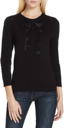 Kate Spade bow embellished sweater