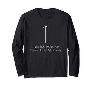 This Lady Loves Her Corgis Funny Long Sleeve T Shirt Design