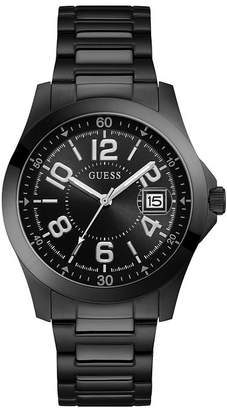 Men's Black Stainless Steel Bracelet Watch
