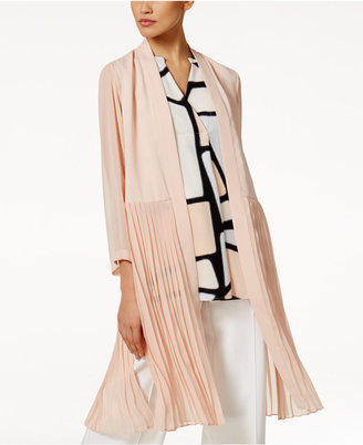 Alfani PRIMA Chiffon Pleated Topper Jacket, Only at Macy's $99.50 thestylecure.com