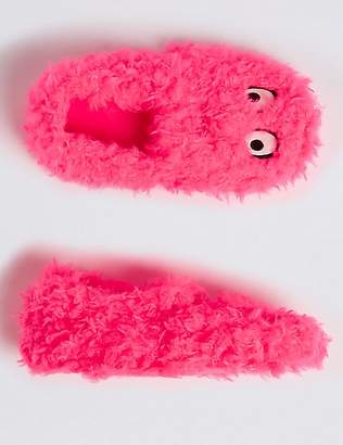 Marks and Spencer Kids' Fluffy Monster Slippers (5 Small - 5 Large)
