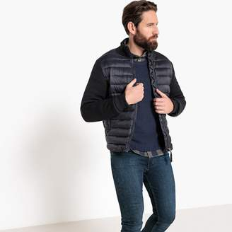 Schott Robson 1 Zip-Up Cardigan in Fine Gauge Knit