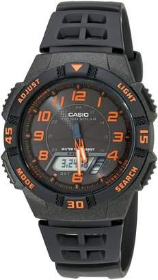 Casio Men's AQS800W-1B2VCF Slim Solar Multi-Function Analog Digital Watch