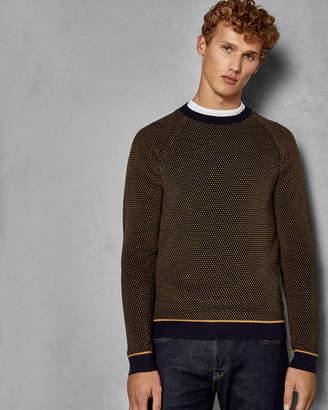 Ted Baker CANCRU Ottoman crew neck sweater
