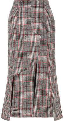 McQ Prince Of Wales Checked Wool-blend Midi Skirt - Black