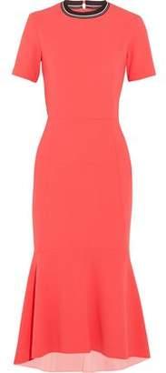 Rebecca Vallance Open-Back Fluted Crepe Midi Dress