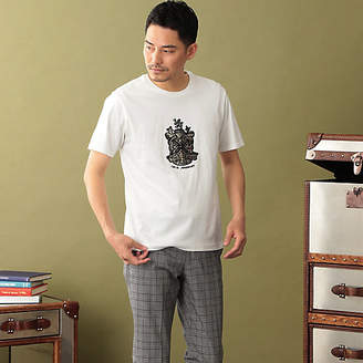 THE SCOTCH HOUSE (ザ スコッチハウス) - [THE SCOTCH HOUSE] 【180周年記念商品】オーガニックコットン使用クレスト刺繍Tシャツ(F1P90139__)