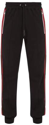 Givenchy Side Stripe Cotton Track Pants - Mens - Black