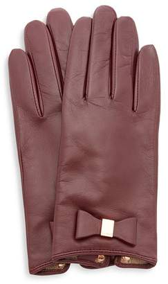 Ted Baker Betanie Bow Detail Leather Gloves