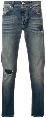 Dondup distressed patch detail jeans