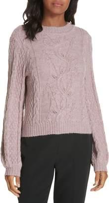 Milly Vine Detail Alpaca Sweater