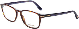 Tom Ford FT5355 Tortoiseshell-Look Square Optical Frames