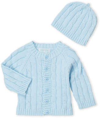 Baby Essentials Baby Dove (Newborn Boys) Two-Piece Cardigan & Hat Set