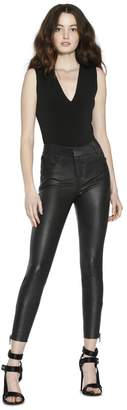 Alice + Olivia Stacey Leather Slim Trouser