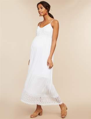 Motherhood Maternity Lace Trim Maternity Dress