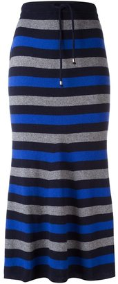 Twin-Set striped maxi skirt $130.19 thestylecure.com