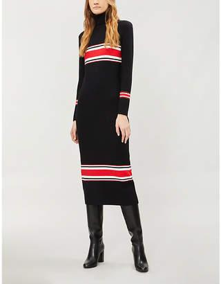 Free People Striped stretch-knit midi dress