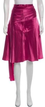 Marc by Marc Jacobs Asymmetrical Silk Midi Skirt