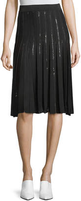 Jonathan Simkhai Pleated Sequin Relaxed Flare