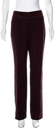 Rena Lange Mid-Rise Straight-Leg Pants w/ Tags