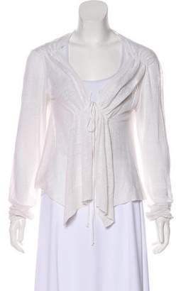 Bruno Manetti Linen Long Sleeve Cardigan