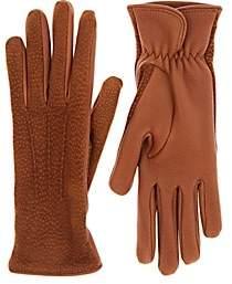 Barneys New York Women's Dotted Deerskin Gloves - Brown