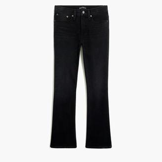 """J.Crew 9"""" high-rise flare crop jean in black denim"""