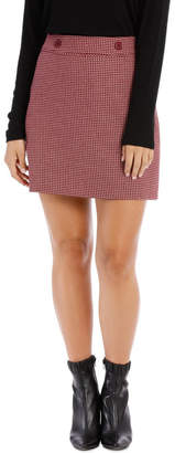 Above Knee Check Skirt
