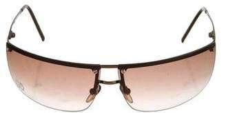 Gucci Strass Embellished Shield Sunglasses
