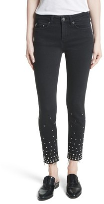 Women's The Kooples Studded Crop Skinny Jeans $245 thestylecure.com