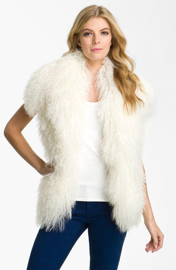 MICHAEL Michael Kors Merino Vest with Genuine Mongolian Lamb Fur