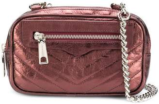 Rebecca Minkoff double zip crossbody distressed bag