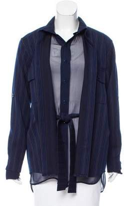 Sies Marjan Wool Pinstripe Coat w/ Tags