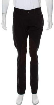 Dolce & Gabbana Suede Accent Twill Pants w/ Tags