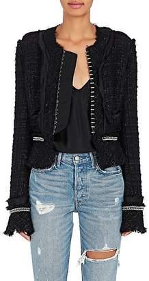Alexander Wang Women's Embellished Tweed Collarless Jacket