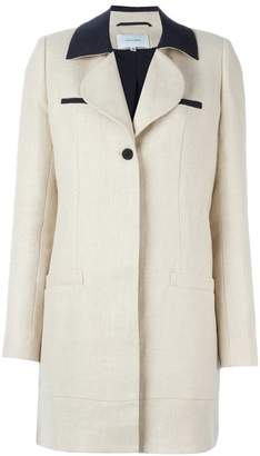 Carven contrast collar coat