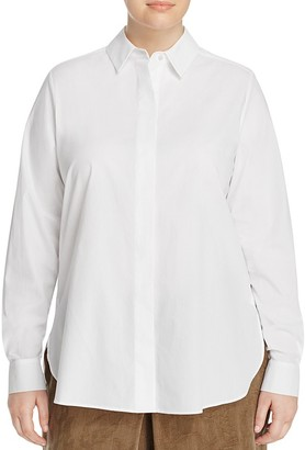 Marina Rinaldi Baldo Cotton Poplin Shirt $215 thestylecure.com