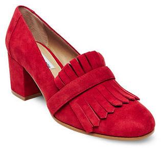 Steve Madden Kate Suede Loafer Heels $99 thestylecure.com